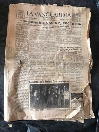 Periódico antiguo de 1966