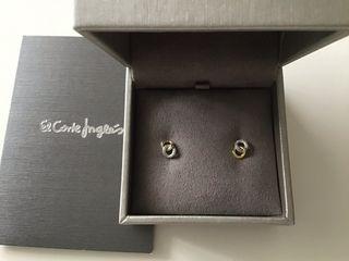 Pendientes de oro y diamantes El Corte Ingles