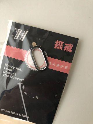 Protector cámara iPhone 8 Plus o 7 plus negro