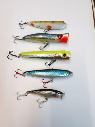 5Rapalas o señuelos artificiales de pesca