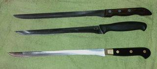 3 cuchillos jamoneros