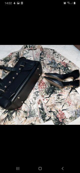 conjunto bolso + zapatos