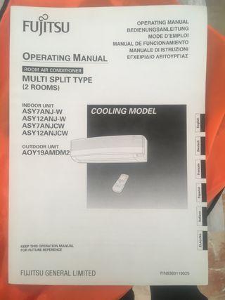 Aire acondicionado 2x1 Fujitsu