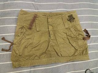Falda marrón talla xs