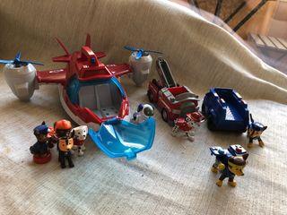 pack patrulla canina: avion + perrobot + camion...