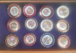 Colección 24 platos LIMOGES miniaturas