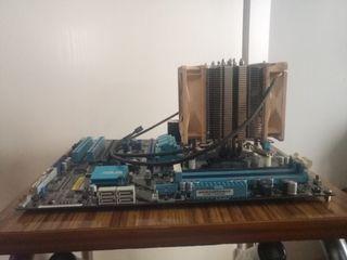 Placa Base, procesador y disipador
