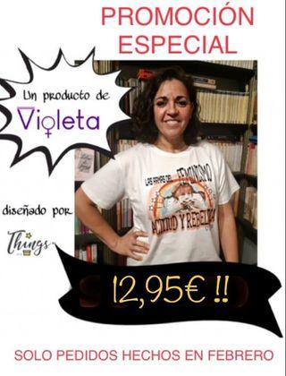 Camisetas feministas Pippi varias tallas NUEVAS