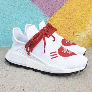 Adidas NMD HU Pharrell Human Made White Red EF7223