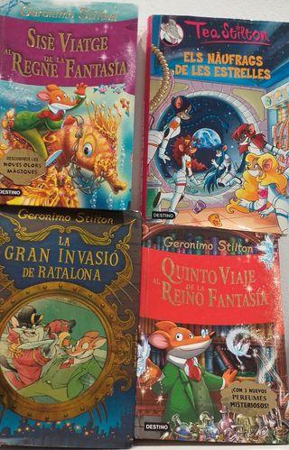 4 libros de GERÓNIMO STILTON