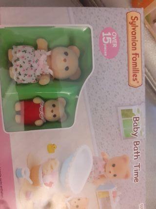 baby bath time sylvanian families 5092