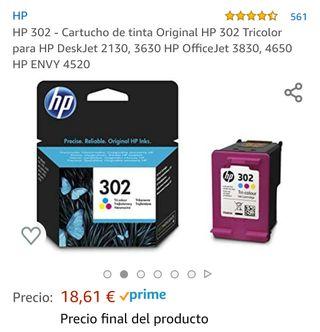 Cartucho de tinta tricolor HP 302