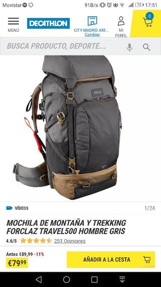 Mochila de trekking 50L