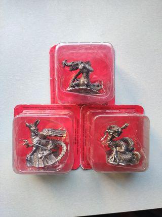 3 Figuras Dragones DeAgostini coleccionista