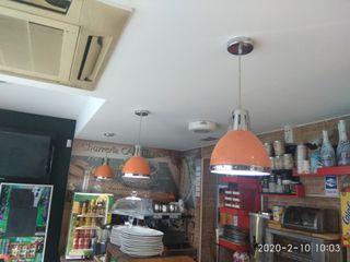 lamparas naranja y plata