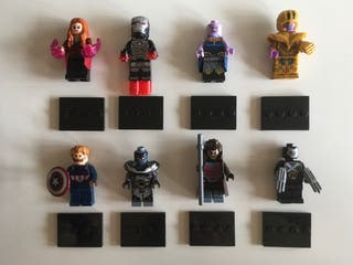 Lote de figuras tipo Lego Marvel