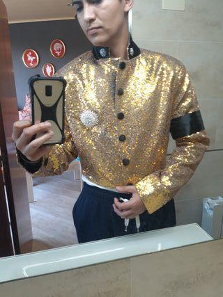 Chaqueta Michael Jackson Dorada