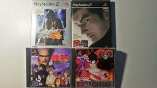Pack Tekken 2,3,4 Tag Tournament PAL Esp Completo