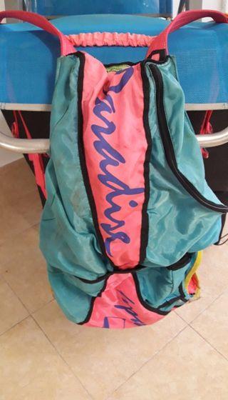 Silla arnés parapente d 3kg,contenedor paracaídas