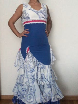 Vestido flamenca y Pendientes