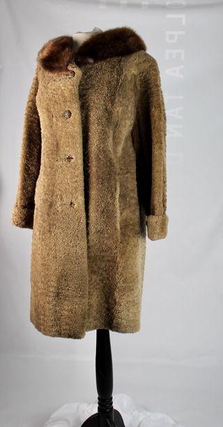 Abrigo vintage de piel t.40