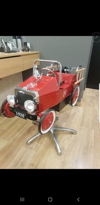 silla infantil barberia coche bomberos