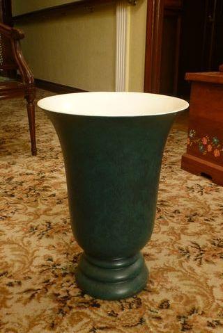 Jarrón verde de cerámica