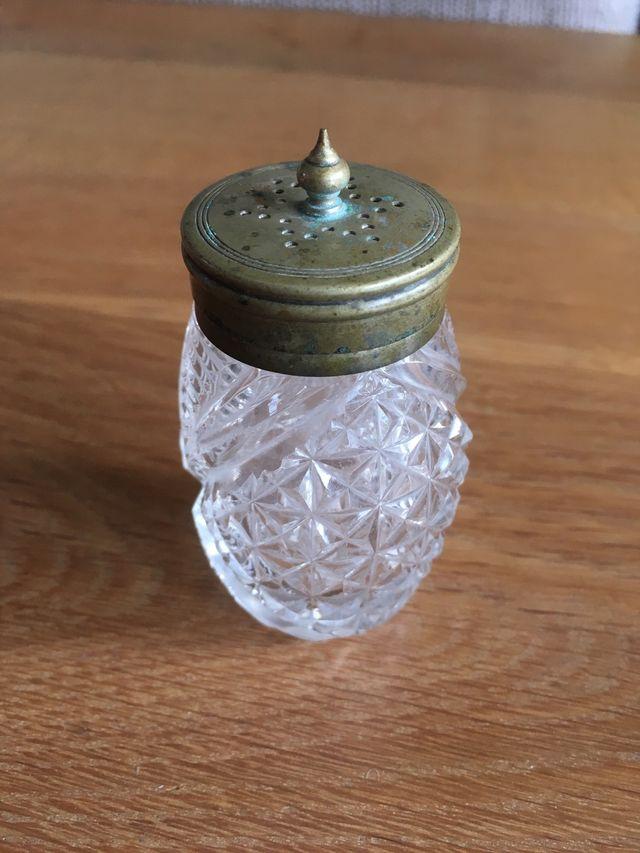 Antique Hand Cut Salt Shaker