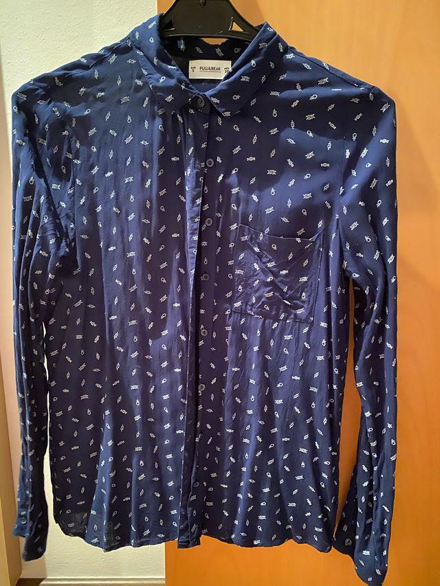 Camisa anclas azul marino