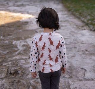 Camiseta artesanal algodón orgánico, 4 años. Nueva