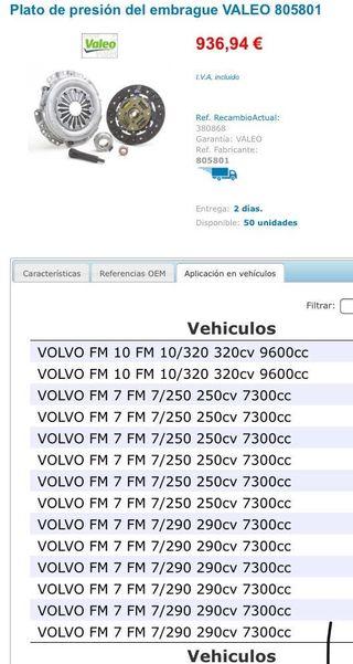Kit embrague camión Volvo fm nuevo