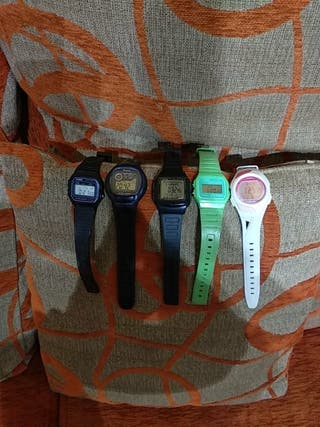 vendo estos relojes Casio.