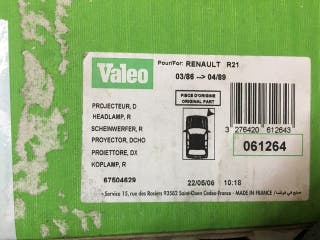 Faro Renault 21 derecho nuevo