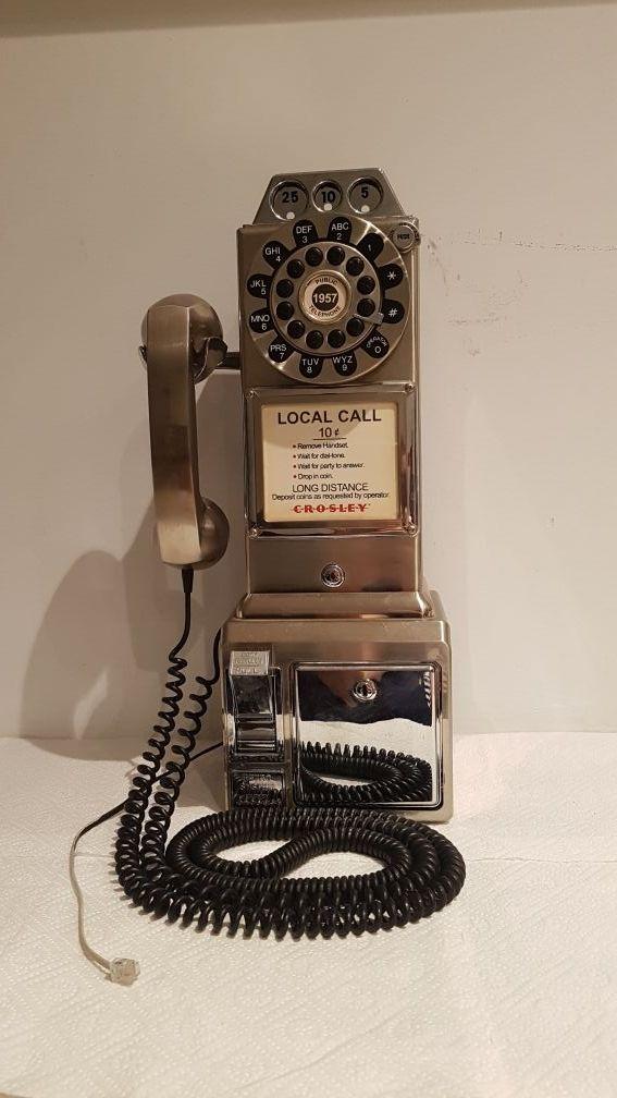 CROSLEY TELÉFONO PARED CABINA ANTIGUO VINTAGE