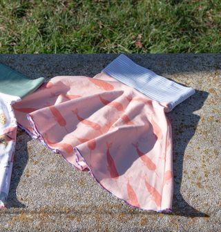 Falda estampada de algodón orgánico, 4 años. Nueva