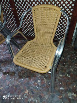 silla terraza aluminio