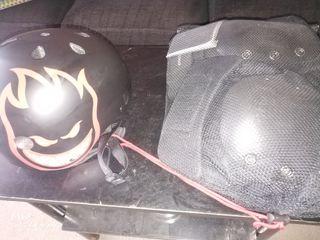 casco y protecciones protec skate