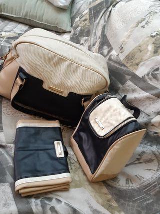 bolso más cambiador y porta biberón