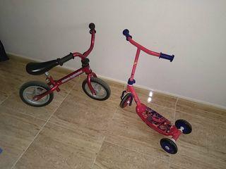 """Bicicleta sin pedales """"Chicco"""" y patinete """"Blaze"""""""