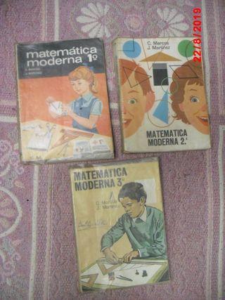 3 LIBROS VITAGE DE MATEMATICAS X 4€ TODOS