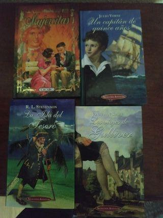 Literatura juvenil. Lote 4 libros.