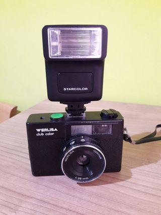 Cámara Fotos Vintage Werlisa con Flash externo
