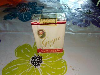 paquete de tabaco antiguo. Goya.