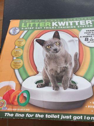 Vendo tapa de water para gatos nueva