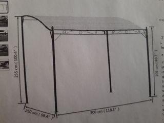 Pergola de acero 3x2,5