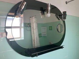 Espejo de baño antiguo con luces estilo vintage