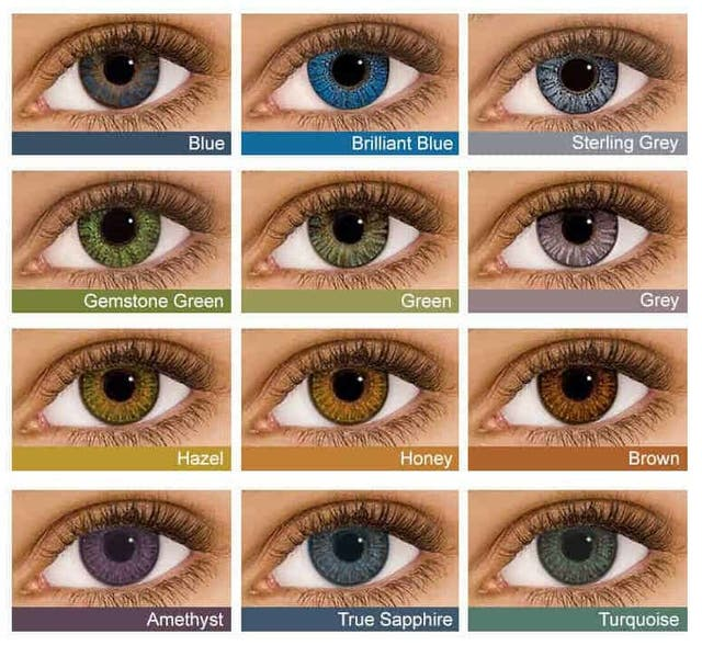 colourful eye lens
