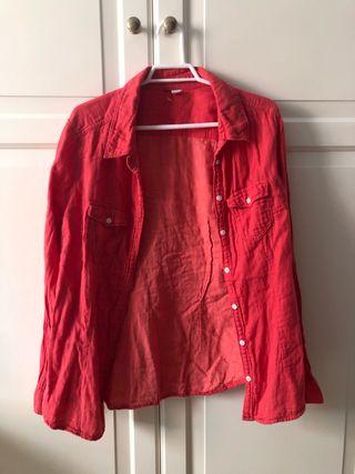 H&M camisa rosa