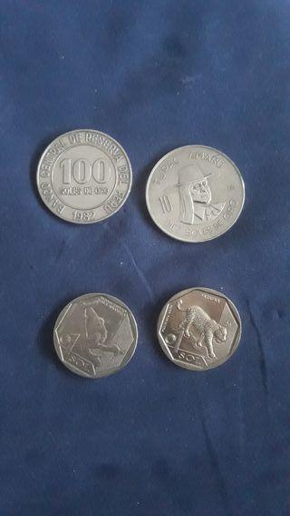monedas peruanas año 1980y 1972