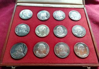 """Medallas Plata """"Dioses de la mitología"""""""